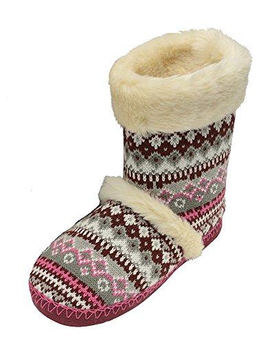 Dunlop Imogen - Zapatillas de estar por casa de Material Sintético para mujer Rosa - fucsia