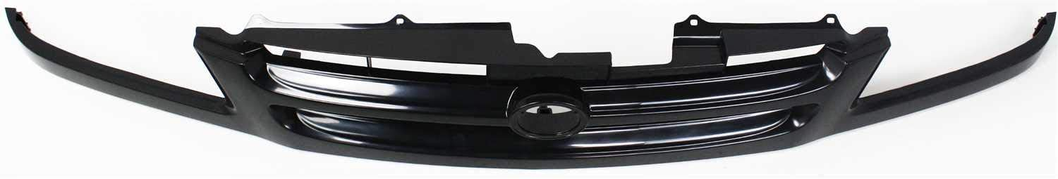 Aftermarket Grille Assembly Compatible with 1998-1999 Toyota Sienna Black Shell and Insert