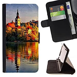 Momo Phone Case / Flip Funda de Cuero Case Cover - Sunset Beautiful Nature 72 - Sony Xperia Z5 Compact Z5 Mini (Not for Normal Z5)