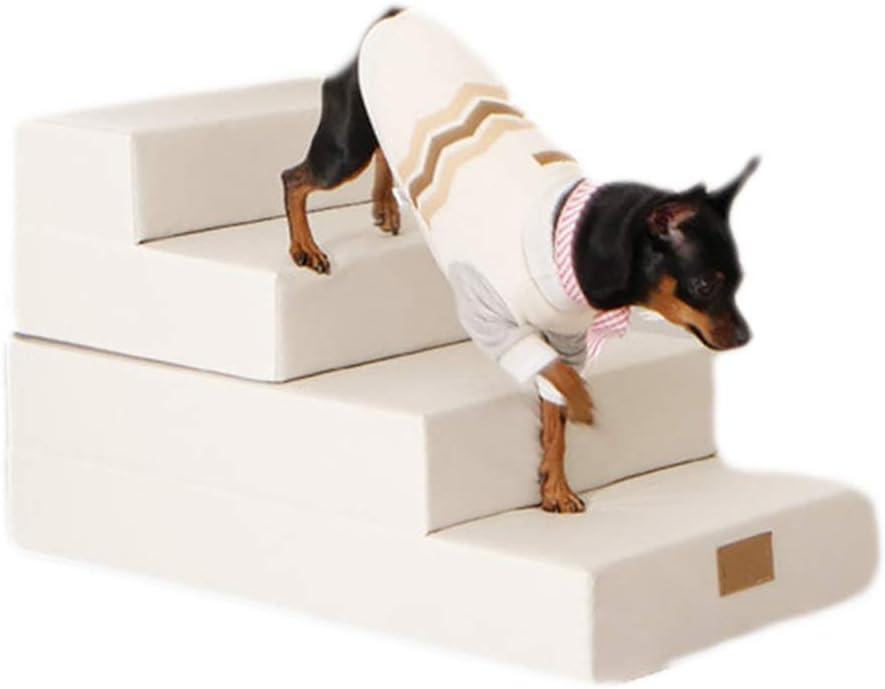 Escalera De PE Altamente Flexible Escaleras Para Perros Escalada Para Mascotas Escaleras De PU Perro Pequeño Y Mediano Sofá Camaescalera Estilo,Blanco: Amazon.es: Jardín