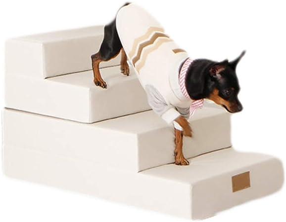 YLYH Escalera De PE Altamente Flexible Escaleras para Perros Escalada para Mascotas Escaleras De PU Perro Pequeño Y Mediano Sofá Camaescalera Estilo,Blanco: Amazon.es: Hogar