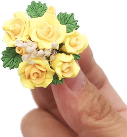 Miniature Pretty Planter or Storage Container GREEN : DOLLHOUSE 1:12