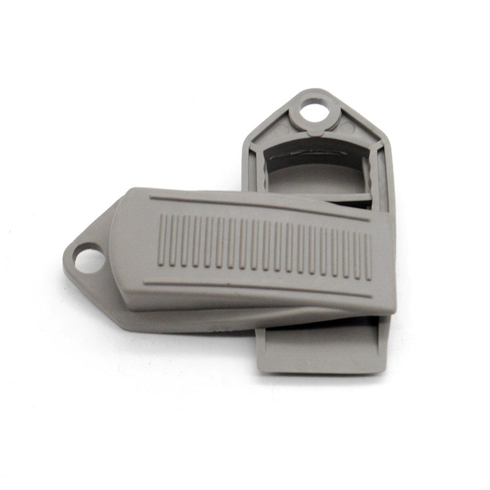 2Pcs Premium Rubber Door Jam Door Stopper Heavy Duty Flexible Rubber Door Stop Wedge(Grey)