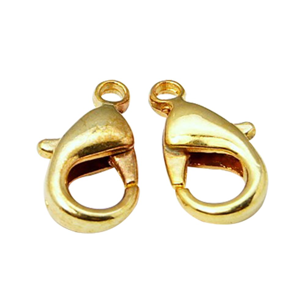 1/mm NBEADS 200/pcs Laiton fermoirs mousquetons 12/x 7/x 3/mm pour la Confection de Bijoux sans Nickel Trou