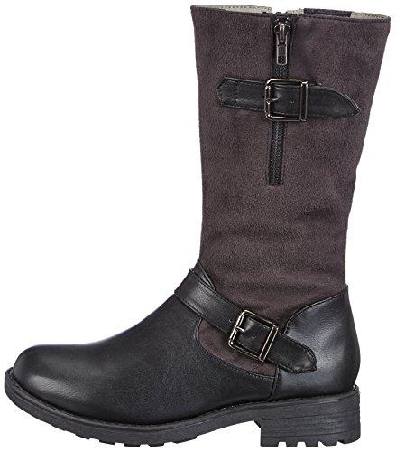 Andrea Conti 1128567258, Botines para Mujer, Schwarz/Anthrazit, 38 EU: Amazon.es: Zapatos y complementos