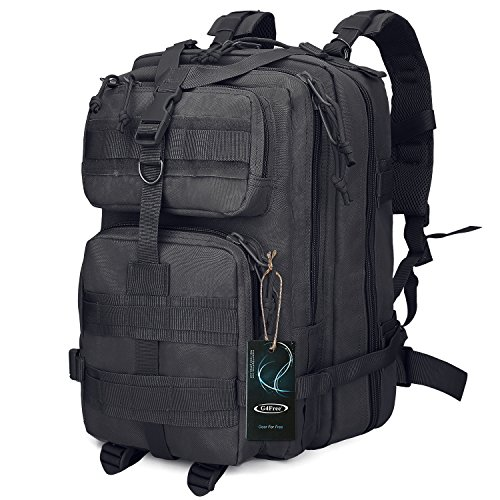 G4Free Sport Outdoor military backpack tactical backpack molle backpack military rucksack Camping Hiking Trekking Bag Custom Design 40L (Black)