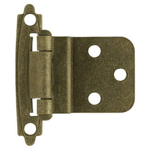 Liberty H0104AL-AB-U 3/8-Inch Self-Closing Inset Hinge, 2-Pack