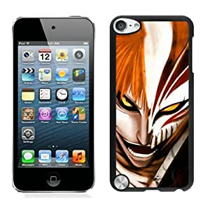 Popular And Unique Custom Designed Case For iPod Touch 5 With Bleach Ichigo Black Phone Case