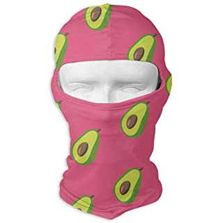 Avocado Pattern Balaclava UV Protection Windproof Ski Face Masks for Cycling Outdoor Sports Full Face Mask Breathable