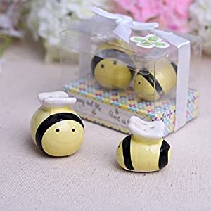 Wedding Favor Mommy and Me Sweet as Can Bee Honeybee Salt Pepper Shakers
