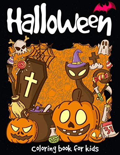 Cute Halloween Monster Coloring Pages (Halloween Coloring Book: A Super Cute Halloween for Kids (Happy Halloween Designs) Holiday Coloring Book of Halloween (Kids:Drawing & Coloring)