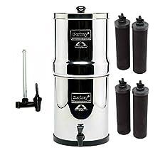 Berkey Big Water Filter--4 Black Berkey Filters And Water View Spigot