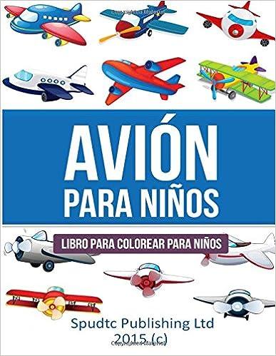 Avión para niños: Libro para colorear para niños