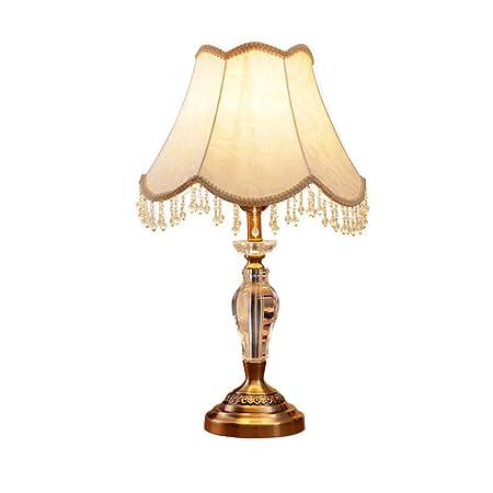 GHYW Lámpara de Mesa, lámpara de Cristal LED, Sala de Estudio ...