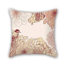 Cushion Cases Of Flower 20 X 20 Inches / 50 By 50 Cm Best Fit For Bedding Bedroom Kids Room Father Office Family Both Sides