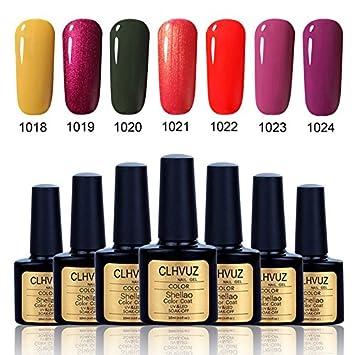 New Brand CLHVUZ Gel Polish Set UV Led Soak Off Nail Varnish Colors Collection Salon Beauty Nail Arts Kits Long Lasting Gel 7Pcs/set (SET15) Nuosong