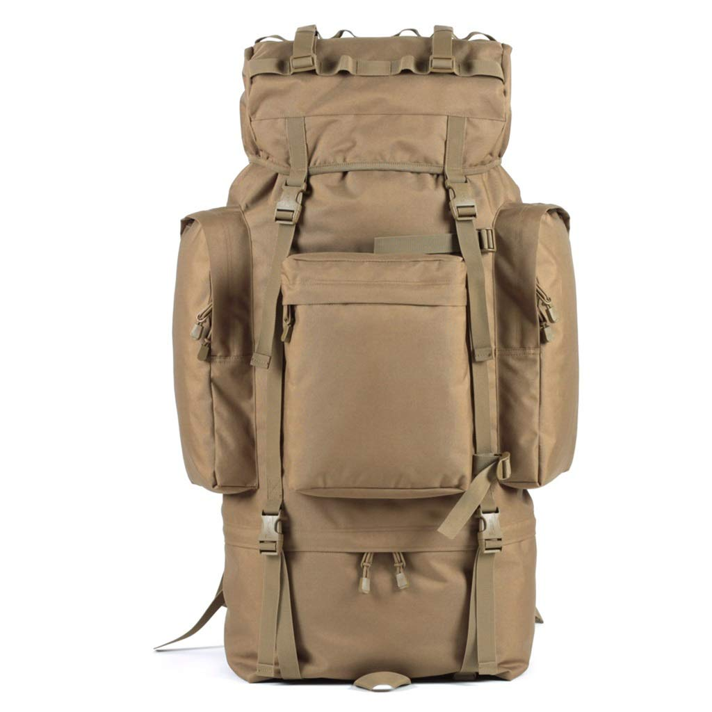 QP Mountaineering Bag - Outdoor Large Capacity 100L Backpack/Cycling Backpack/Backpack (Color : Khaki)
