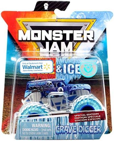 [해외]Monster Jam 2019 Fire and Ice Exclusive Special Edition Grave Digger Ice 1:64 Scale Diecast Monster Truck by Spin Master / Monster Jam 2019 Fire and Ice Exclusive Special Edition Grave Digger Ice 1:64 Scale Diecast Monster Truck by...