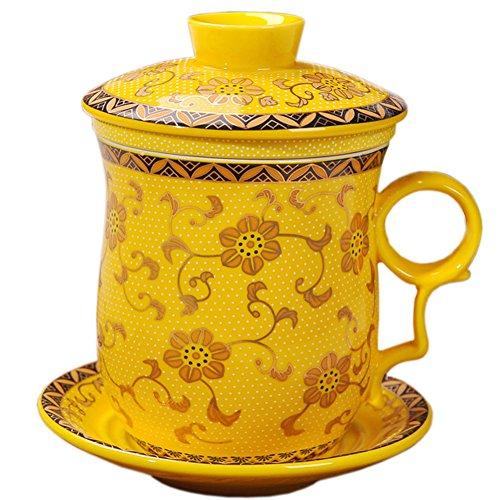 yellow tea cup - 1