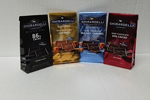 Ghirardelli Chocolate Squares - Ghirardelli Gold Assorted 4 Flavors, 22.82 Ounce