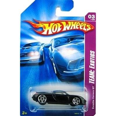 Mattel Hot Wheels 2008 1:64 Scale Team Exotics Black Porsche Carrera GT Die Cast Car #115: Toys & Games