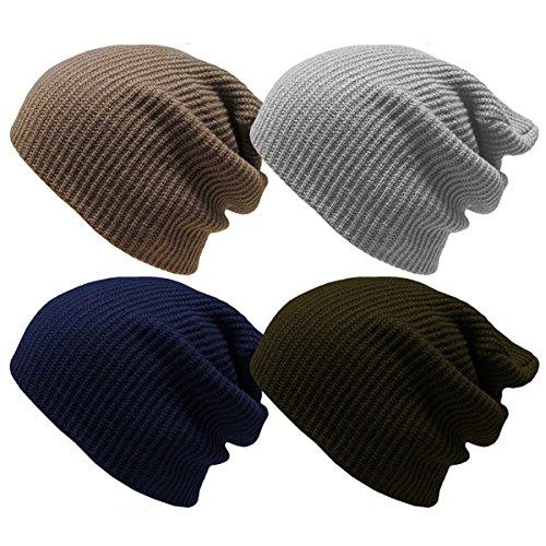 Straßenpreis attraktive Designs günstigen preis genießen Travel Supplies - Unisex Outdoor Warm Winter Solid Knit Ski Cap Hat Cap  Hiking Camping - Blue Winter Knitted Knit Sports Navy Cold Hats Wool - Hat  Men ...