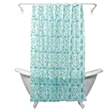 Teal Shower Curtain Zenna Home, India Ink Morocco Peva Shower Curtain Liner, Teal