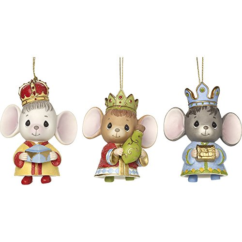 - Precious Moments The Holidays Are Mice With You Set Of Three Bisque Porcelain Ornaments 171064