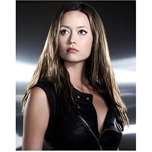 Summer Glau 8x10 Photo Serenity Terminator: The Sarah Conner Chronicles Black Leather Zip Vest kn (Conner Leather)