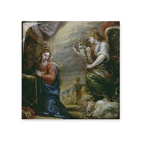 hot sale Religion Christianity World Famous Landmark Classical Oil Painting The Annunciation Art Design Illustration Pattern Ceramic Bisque Tiles for Decorating Bathroom Decor Kitchen Ceramic Tiles Wall Tiles