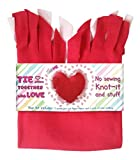DADM Heart Pillow Craft Kit, DIY Crafts Kits for Kids and Adults, Girls and Boys No sew Tie a pillow kit, Knot-it and Stuff, Precut fleece fabric and stuffing Selfme