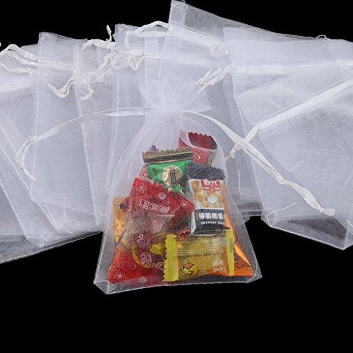 Sun con Malla Regalos Glower Cordn Blanco Envolver 100 de Boda Dulces para para Fiesta o Bolsas rqIBWwIX