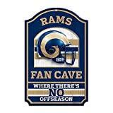 "NFL Fan Cave Wood Sign, 11"" x 17"""