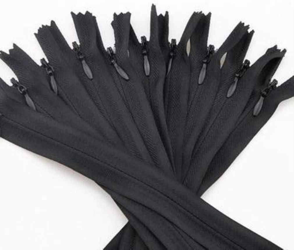 65 cm Marrone PENG 10 Pezzi 65 cm 70 cm 80 cm 100 cm 150 cm 200 cm Cerniere Invisibili Lunghe Cerniera in Nylon Fai da Te per Cucire Accessori Accessori