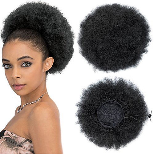 Ayana 11 inch Afro Drawstring Ponytail Synthetic Curly Hair Ponytail Short Afro Kinky Curly Wrap Ponytail Drawstring Puff Ponytail Hair Pieces (11INCH, ()