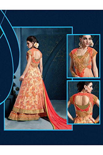 PCC Womens Cream Satin Fabric Pretty Unstitched Lehenga Choli 81289