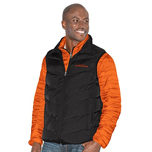 (G-III Sports NFL Cincinnati Bengals Three and Out 3-in-1 Systems Jacket, X-Large, Orange/Black )