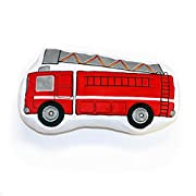 One Grace Place Teyo's Tires Decorative Pillow Fire Truck, Red, Grey, White, Black, Orange