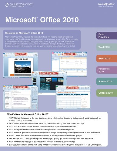 Bundle: Microsoft Office 2010 CourseNotes + Microsoft...
