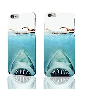 """New Jaws Swimming Seamless 3D Rough iphone Plus 6 -5.5 inches Case Skin, fashion design image custom iPhone 6 Plus - 5.5 inches , durable iphone 6 hard 3D case cover for iphone 6 (5.5""""), Case New Design By Codystore"""