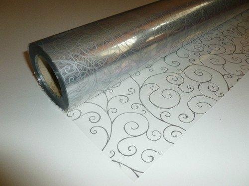 15m x 80cm Roll Silver Scroll Cellophane Wrap. Florist Quality Bouquet / Gift... by Scroll Cellophane Wrap