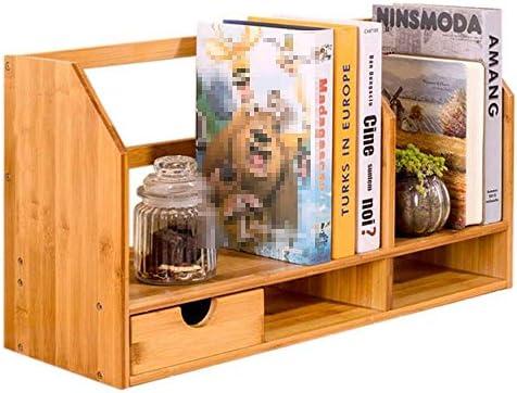 Storage Shelf Bookcase Bookshelf Desk Shelf Student Desk Shelf Bamboo Bookshelf Office Shelf Small Desk 50X18.5X30CmB