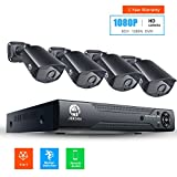JOOAN 2MP TVI Security Camera System 4 X 1080P Weatherproof TVI Camera with 3.6mm Lens And 1080N 8CH DVR Recorder Support AHD/TVI/CVBS- No Hard Drive
