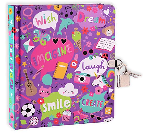 Mollybee Kids My Favorite Things Girls Lock and Key Diary