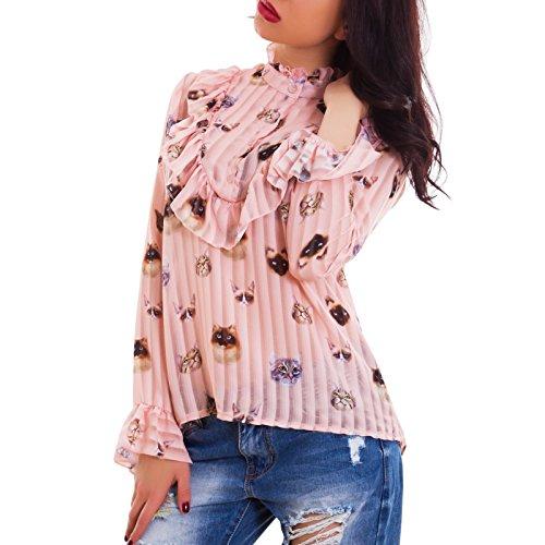 Toocool - Camisas - a túnica - Manga larga - para mujer Rosa