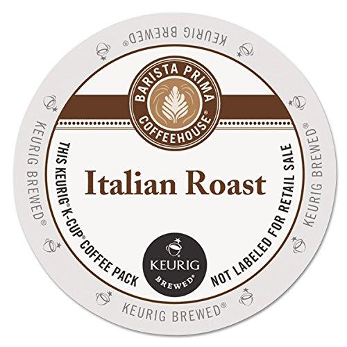 Barista Prima Coffeehouse Italian Roast Coffee K-Cup for Keurig Brewers, Italian Roast Coffee (Count of 96) - Packaging May Vary (Barista Prima Coffee K Cups)