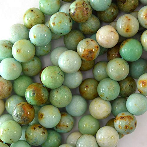 buyallstore Light Green Chrysoprase Round Beads Gemstone 15