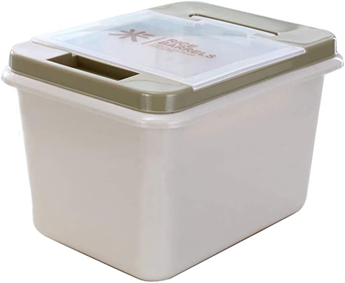 Cereal Containers with BPA Free Plastic and Airtight Design Suitable Gary SNOWINSPRING Rice Container Storage 10 KG//22 LBS