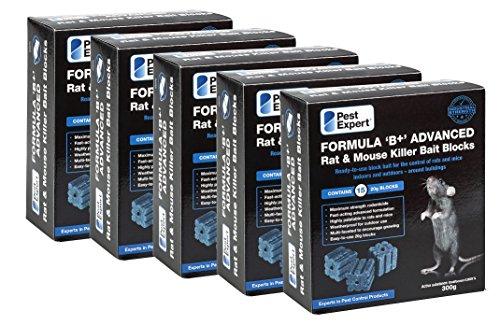 Pest Expert Rat Killer Poison Bait Blocks 1.5kg (5 x 300g)