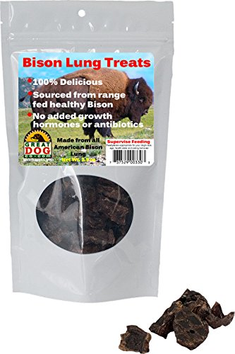 Great Dog Bison Lung Treats (Sourced & Made in USA)